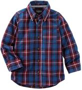 Osh Kosh Toddler Boy Plaid Button-Down Long Sleeve Shirt