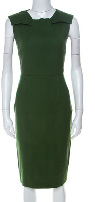 Roland Mouret Limited Edition for The Room by Olive Green Sleeveless Sheath Dress S