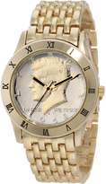 August Steiner Men's CN004G-AS Round Kennedy Half Dollar -Tone Bracelet Watch