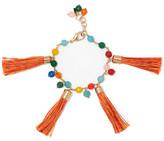 Rosantica Tasseled Gold-Tone Beaded Bracelet