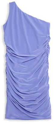 Un Deux Trois Girl's One-Shoulder Ruched Dress