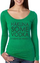 Allntrends Women's Shirt Hakuna Some Vodka It Mean's Get Wasted (2XL, )