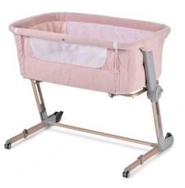 Unilove Pink Hugme Plus Bedside Sleeper Bassinet Includes Mattress and Travel Bag