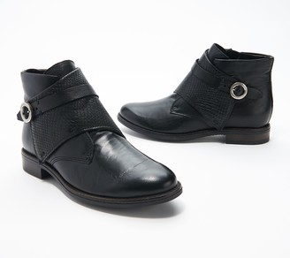Miz Mooz Leather Buckle Ankle Boots - Talbot