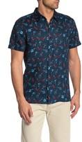 Perry Ellis Floral Short Sleeve Linen Shirt