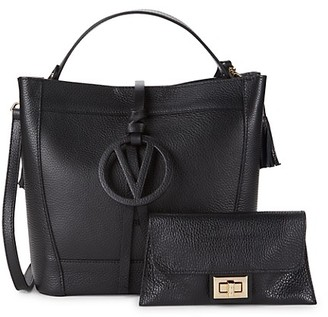 Valentino By Mario Valentino Callie Pebbled Leather Tote
