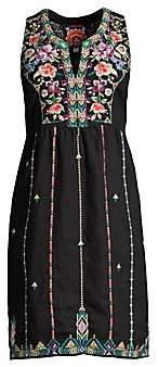 Johnny Was Women's Maiorca Embroidered Dress