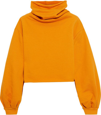 Twenty Montreal Cropped French Cotton-blend Terry Sweatshirt