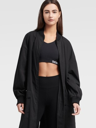 DKNY Zip Coat With Front Pockets