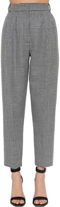 Alexander McQueen Cigarette Prince Of Wales Pleated Pants