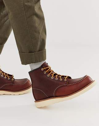 Red Wing Shoes classic 6 inch moc boots in briar oil slick leather