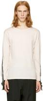 Facetasm Pink Long Rib Sleeve T-shirt
