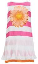 MonnaLisa Daisy Satin Stripe Dress