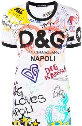 Dolce & Gabbana sketch print T-shirt