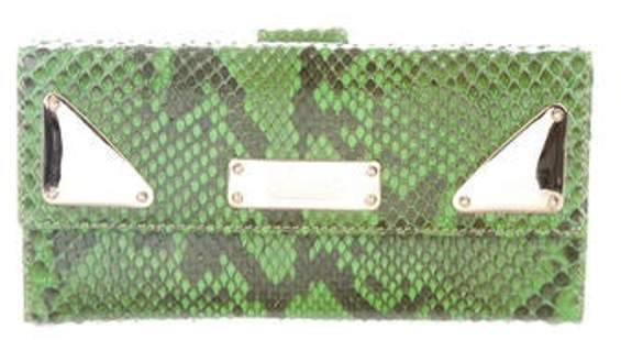 Python Indy Continental Long Wallet Lime Python Indy Continental Long Wallet