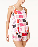 Kate Spade Love Letters Charmeuse Cami and Shorts Pajama Set
