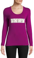 Dkny Fitted Long Sleeve Top