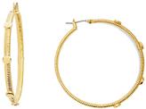 Diane von Furstenberg Gold Disc Hoop Earring