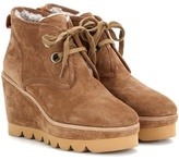 See by Chloe Suede Platform Wedge Ankle Boots