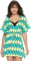 Porto Cruz Women's Portocruz Summer Ikat Surplice Cover-Up Dress