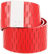 Diane von Furstenberg Leather Laser Cut Waist Belt