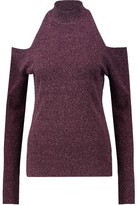 Bailey 44 Inpsire Cold-Shoulder Slub Knitted Top