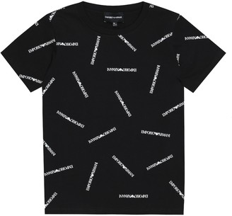 Emporio Armani Kids Logo cotton T-shirt