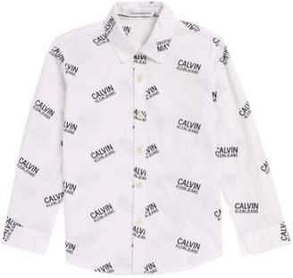 Calvin Klein Kids Stamp Logo Shirt