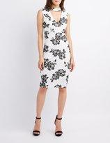 Charlotte Russe Floral Choker Neck Bodycon Dress