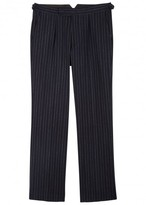 Oliver Spencer Cavalry Pinstriped Wool Blend Trousers