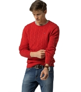 Tommy Hilfiger Classic Wool Cable Knit Sweater