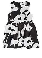 Milly Poppy-Print Silky Twill Fit & Flare Dress