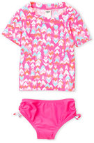 Juicy Couture Toddler Girls) Two-Piece Heart Print Rashguard & Bikini Bottom Set
