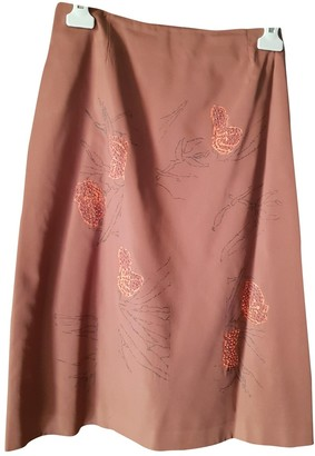 Alberta Ferretti Brown Silk Skirt for Women