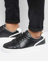Versace Jeans Strap Trainers In Black