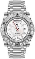 Magnum Aqua Master Men'S Automatic Diamond Watch With Skeleton Back, 7.65 Ctw