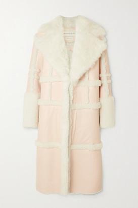 Alexander McQueen Paneled Shearling Coat - Pink