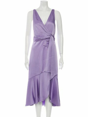 Jonathan Simkhai V-Neck Long Dress w/ Tags Purple