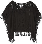 Chelsea Flower Molly fringed broderie anglaise voile top