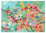 Oopsy Daisy Fine Art For Kids Cherry Blossom Birdies Multicolor Canvas Wall Art