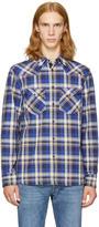 Rag & Bone Blue Plaid Walker Shirt