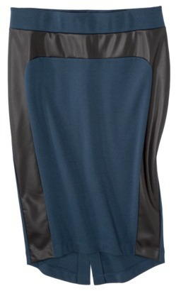 Mossimo Women's High Low Ponte Skirt w/ Faux Leather - Assorted Colors