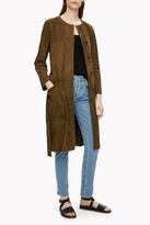 Theory Suede Belted Coat