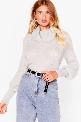Nasty Gal Womens On a Roll Relaxed Knit Jumper - Black - XS