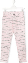 Kenzo tiger stripes trousers - kids - Cotton/Spandex/Elastane - 14 yrs