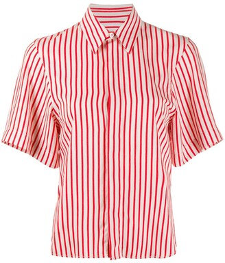 AMI Paris Striped Short-Sleeve Shirt