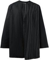 Yohji Yamamoto striped trim shirt