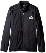 adidas Kids Kids Provisional Rain Jacket (Big Kids) (Black) Boy's Coat