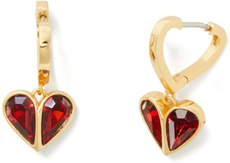 Kate Spade Rock Solid Heart Huggie Hoop Earrings