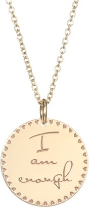 Zoë Chicco Mantra 14K Yellow Gold Engraved Circle Pendant Necklace